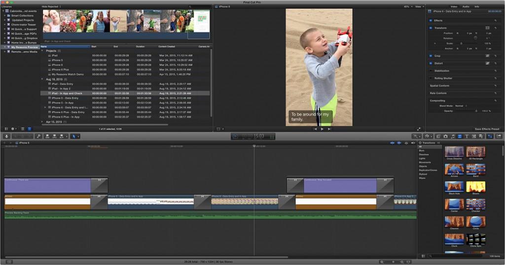 Final Cut Editing